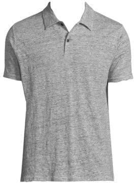 Rag & Bone Linen Short-Sleeve Polo