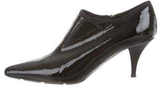Prada Sport Patent Leather Pointed-Toe Booties