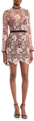La Maison Talulah The Passion Long-Sleeve Crochet Lace Mini Dress