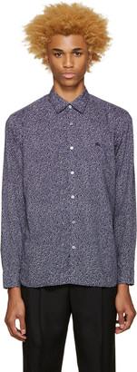 Burberry Blue Printed Wilston Shirt $295 thestylecure.com