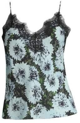 Fleur Du Mal Floral Silk-Blend Camisole