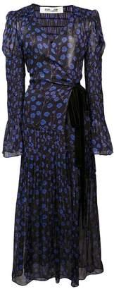 Diane von Furstenberg wrap style sheer dress