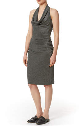 Nicole Miller Glitz Cowl-Neck Dress