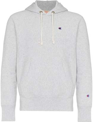 Champion light grey reverse weave terry cotton hoodie