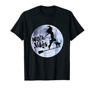 Cute Halloween Costume Witch Vibes Shirt Women Witches Gift
