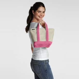 Lands' End Pink Small Zip Top Canvas Tote Bag