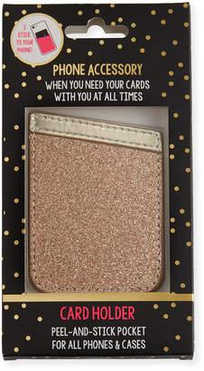 Tricoastal Design Tri Coastal Design Glitter Card Holder Phone Sticker, Gold