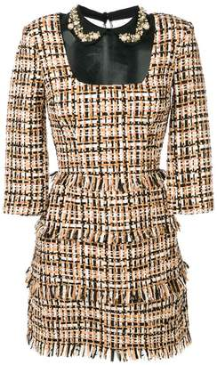 Elisabetta Franchi tweed mini dress