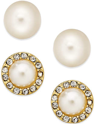 Charter Club Imitation Pearl Stud Earring Duo, Created for Macy's