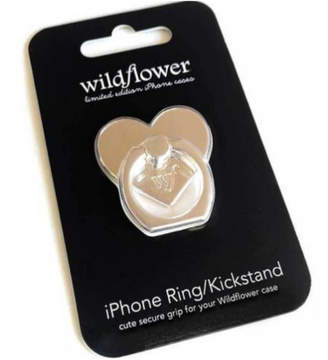 Wildflower Cases iPhone Ring Stand/Holder Silver Heart