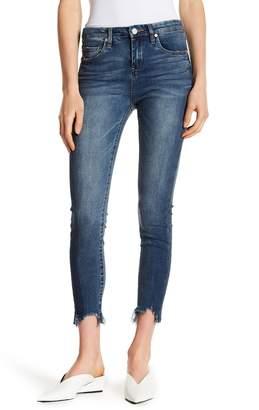 Blank NYC BLANKNYC Denim Frayed Hem Mid Rise Skinny Jeans
