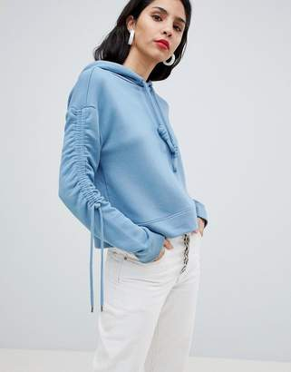 BOSS Casual Boss Casual Jersey Hoodie with Sleeve Detail