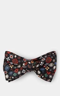 Alexander McQueen Men's Jewels Silk Bow Tie - Black