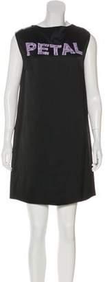 Christopher Kane Embroidered Satin Dress w/ Tags Black Embroidered Satin Dress w/ Tags