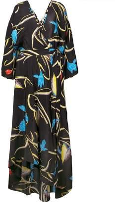 Diane von Furstenberg tropical print wrap dress
