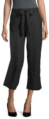 Liz Claiborne Linen Crop Pant - Tall
