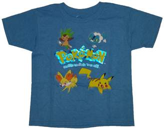 Pokemon Catch 'Em All Little Boys T-shirt (, X-Small)