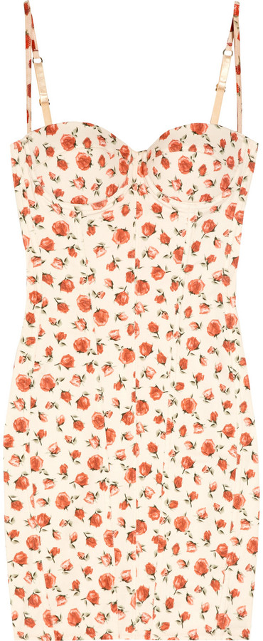 Rosamosario Lara's Flowers cotton-blend twill dress