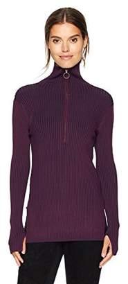 BCBGMAXAZRIA Women's Jaxin Marled Long Sleeve Knit Half Zip