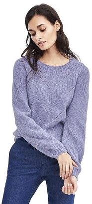 Pointelle Pullover $148 thestylecure.com