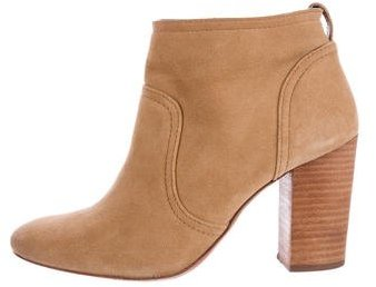 Tory BurchTory Burch Round-Toe Suede Ankle Boots