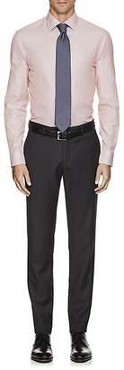 Armani Collezioni MEN'S MICRO-CHECKED COTTON OXFORD CLOTH DRESS SHIRT