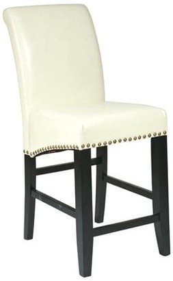 """Office Star Metro Design by Products 24"""" Parsons Bar Stool with Nail Heads"""