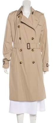 Burberry Double-Breasted Knee-Length Trench Coat