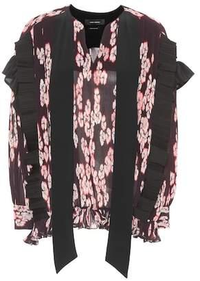 Isabel Marant Willis floral-printed pleated top