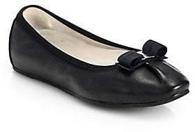 Salvatore Ferragamo Women's My Joy Leather Ballet Flats