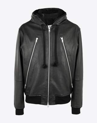 Maison Margiela (メゾン マルジェラ) - MAISON MARGIELA leather hoodie jacket