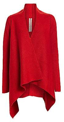 Rick Owens Women's Fisherman Wool & Mohair-Blend Wrap Cardigan