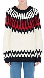 Chloé WOMEN'S ABSTRACT-PATTERN WOOL SWEATER-CREAM SIZE XS