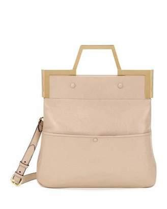 Fendi Catwalk Small Convertible Leather Tote/Clutch Bag