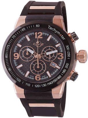 Gv2 Men's Swiss Quartz Chronograph Novara Black Rubber Strap Watch