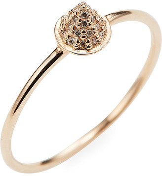 Sydney Evan Pave Cone Spike Ring