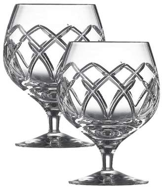 Mystique Galway Crystal Galway Living Pair Of Brandy Glasses
