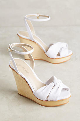 Guilhermina White Denim Wedges $158 thestylecure.com