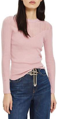 Topshop PETITE Pointelle Sweater