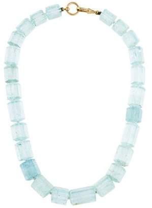 14K Aquamarine Bead Necklace