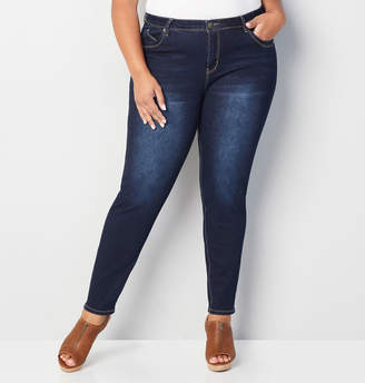 Avenue Skinny Wanna Betta Butt Jean in Dark Wash