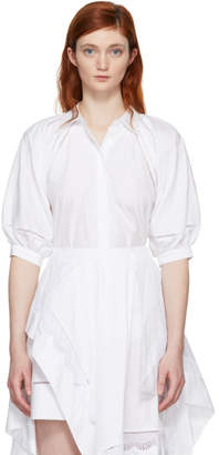 3.1 Phillip Lim White Full Sleeve Eyelet Blouse