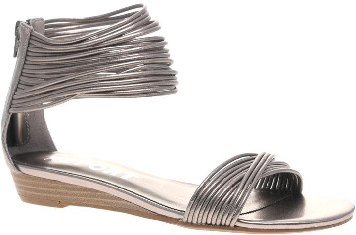 Report Mosby Metallic Multi Strap Sandals
