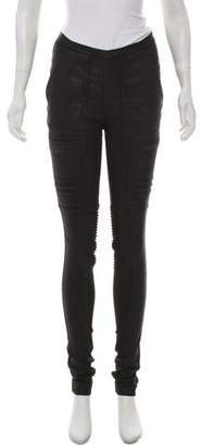 Rick Owens Mid-Rise Ribbed Jeans