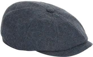 Stetson Hatteras Herringbone Flat Cap