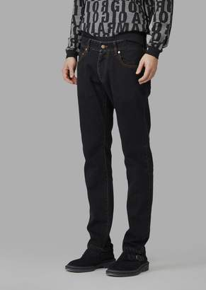 Giorgio Armani Slim Fit Japanese Stretch Denim Jeans