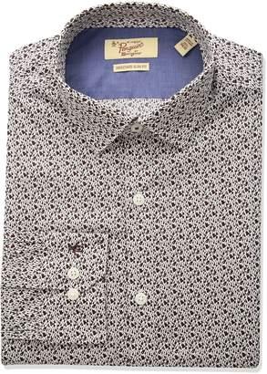 Original Penguin Men's Slim Fit Performance Guitar Print Dress Shirt