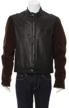 Jay Kos Shearling & Leather Jacket