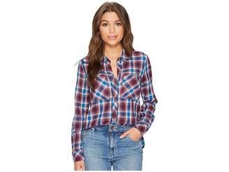 Lucky Brand Plaid Shirt Women's Long Sleeve Button Up
