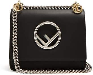 Fendi Kan I Leather Cross Body Bag - Womens - Black